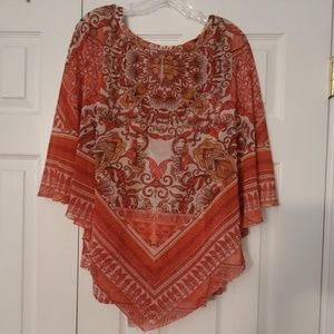Two-piece Poncho Top